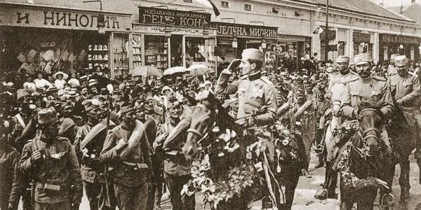 November 1918 Regent Aleksandar Karadjordjevic in liberated Belgrade