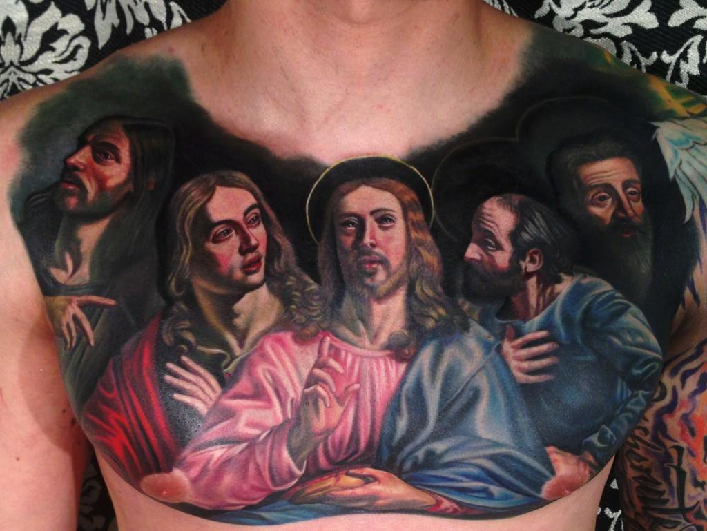 Christ icon tattoo