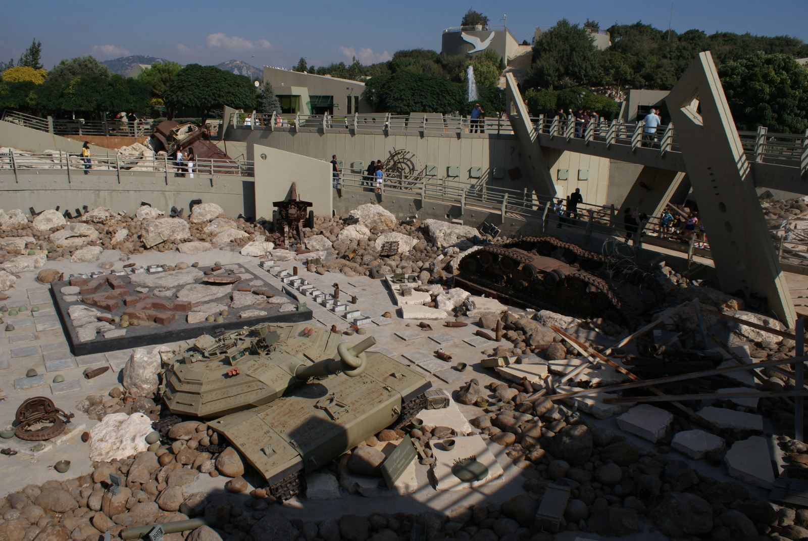 Destroyed Israeli military equipment