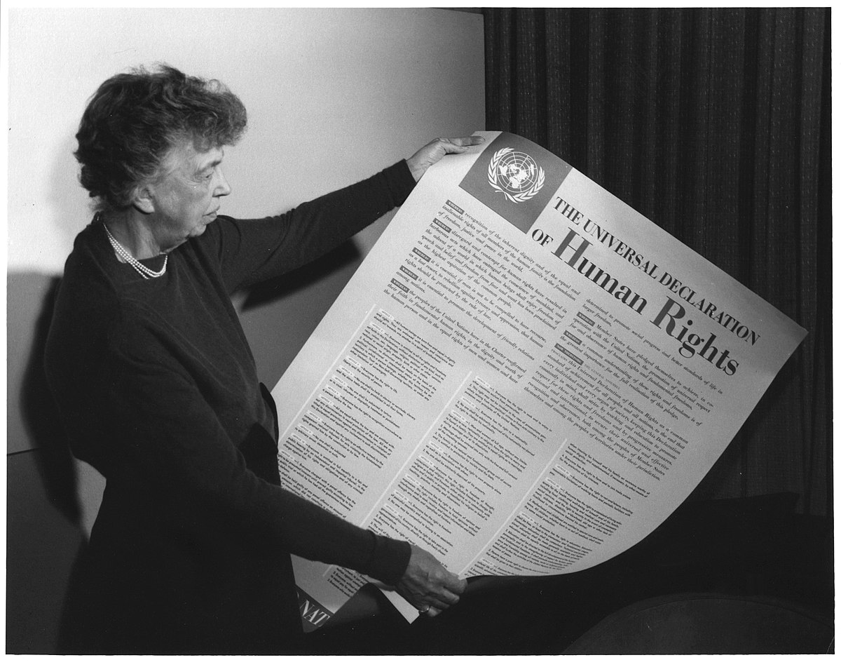 Eleanor Roosevelt UDHR