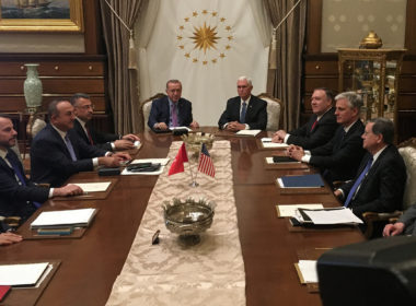 Turkish President Erdogan meets with U.S. Vice President Pence in Ankara