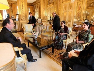 Hollande expressed his support for the Kurds