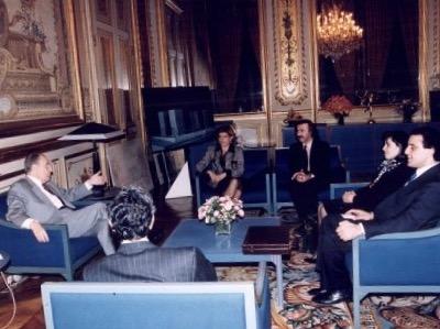 Mitterrand received a delegation of PKK