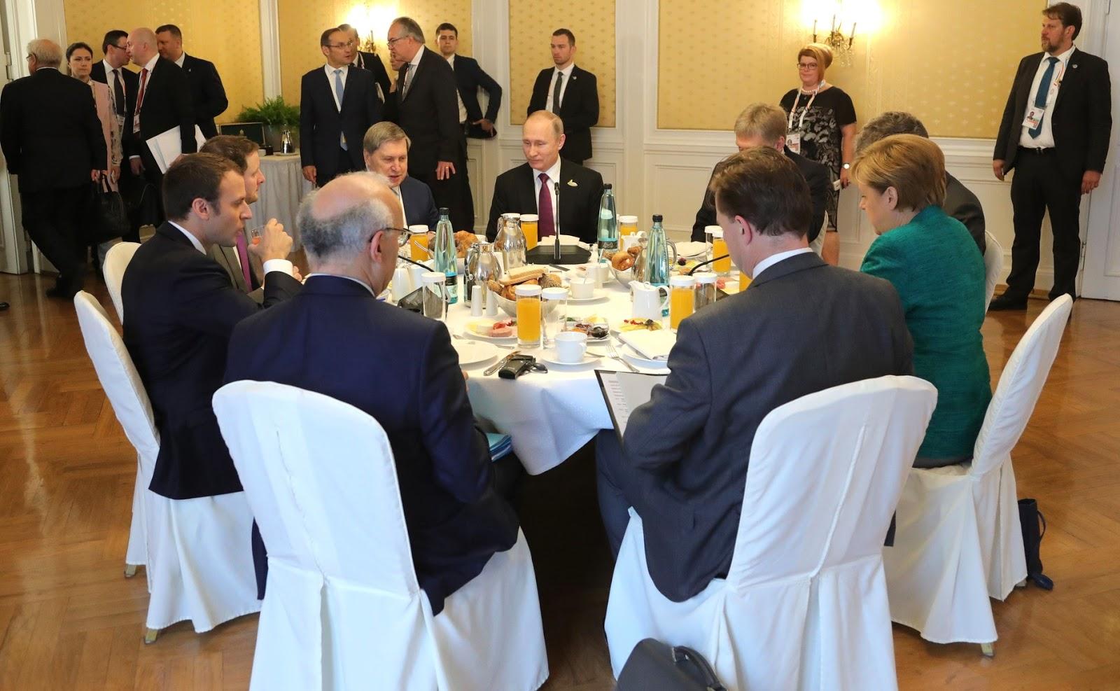 Putin breakfast