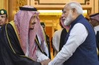 King Salman Al Saud received Narendra Modi