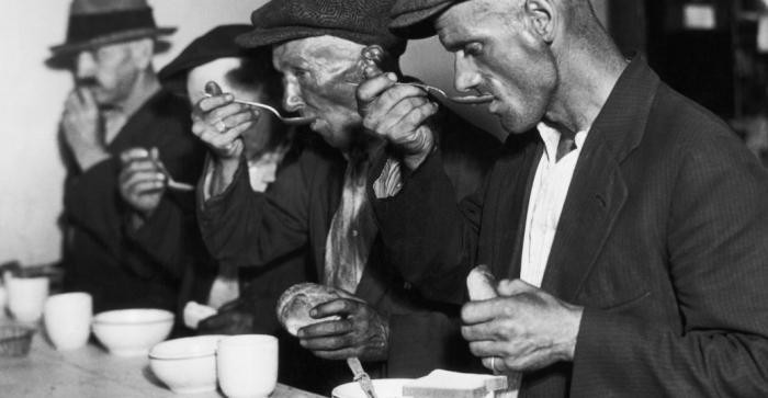 Public restaurants in Germany with free food during the Depression