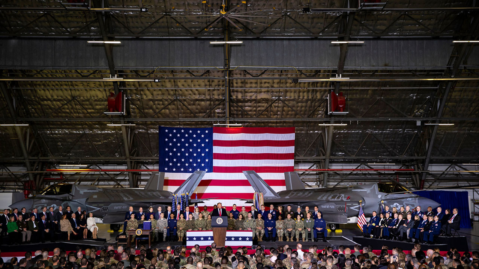 US President Trump signs National Defense Authorization Act for Fiscal Year 2020, Suitland, Usa - 20 Dec 2019