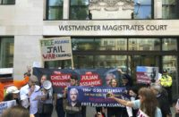 Assange at Westminster Magistrates