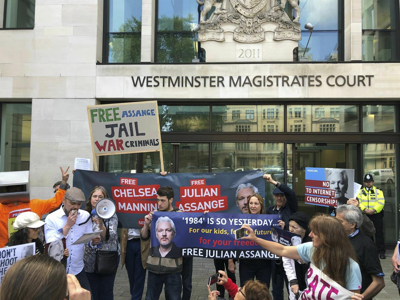 Assange at Westminster Magistrates