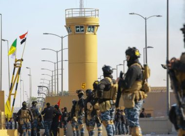 Retreat from US embassy in Baghdad