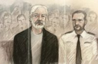 Assange court sketch
