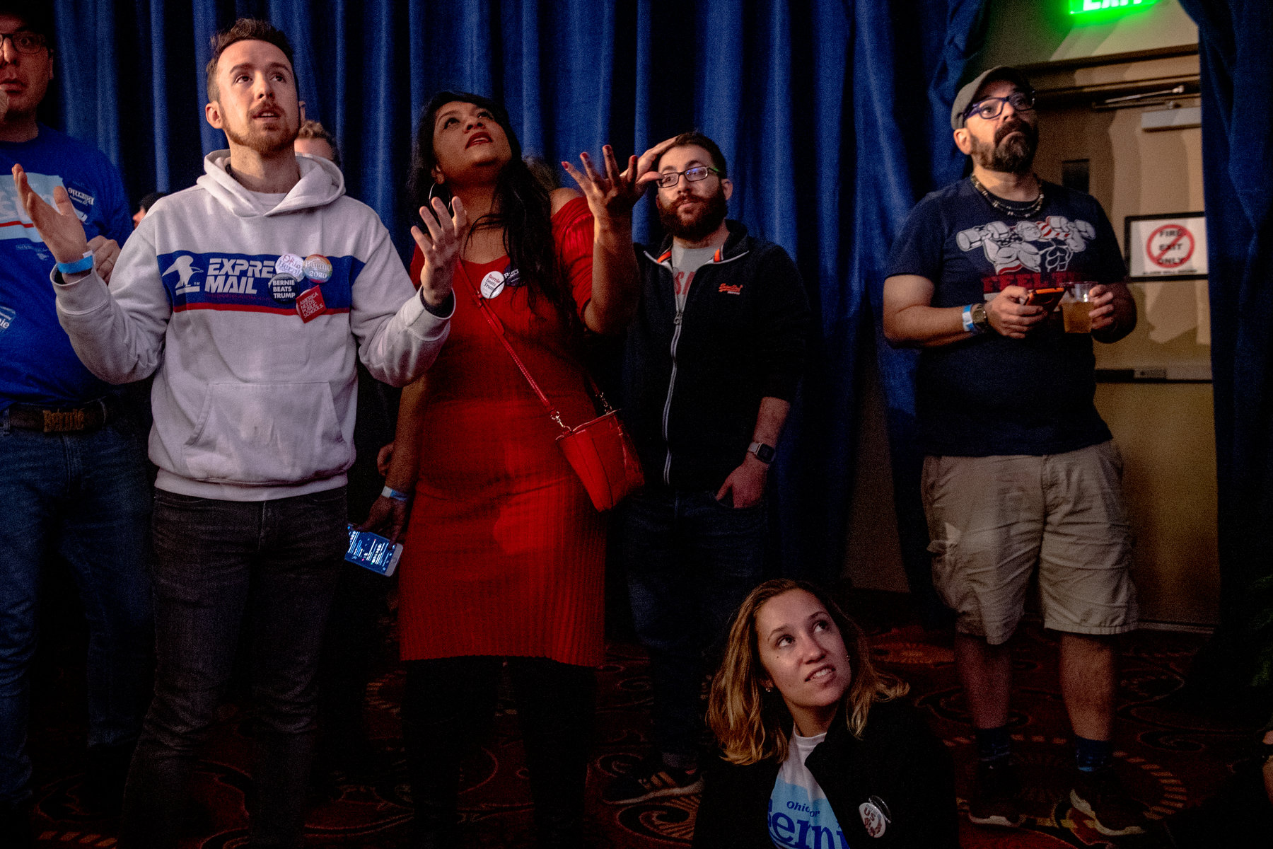 Sanders caucus party results in confusion