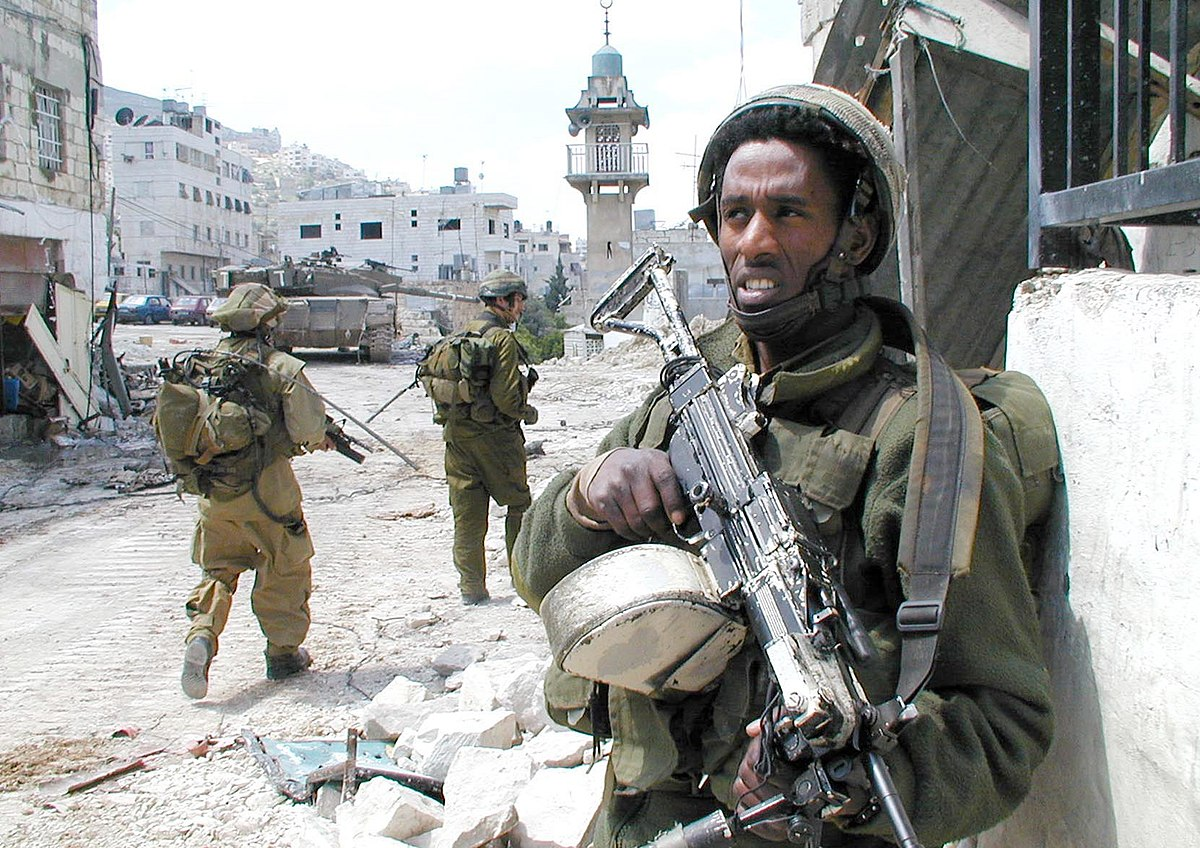 Israeli soldiers in Nablus, during Operation Defensive Shield