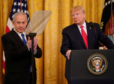 U.S. President Trump and Israel's Prime Minister Netanyahu discuss Middle East peace plan proposal at the White House in Washington