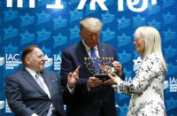Trump receives a menorah