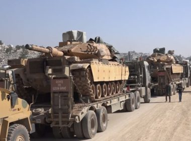 Turkish military convoy in Idlib
