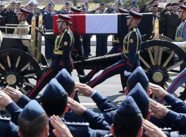 Burying Mubarak