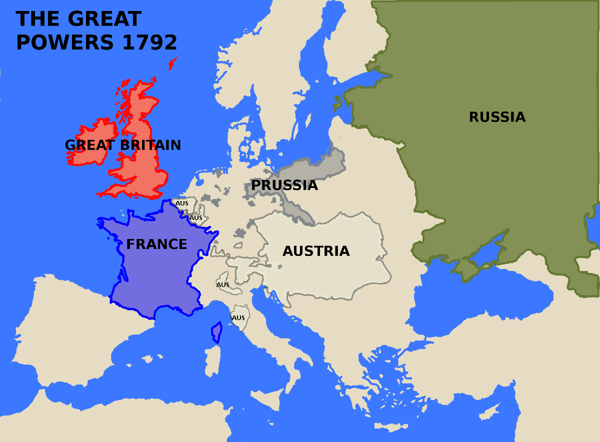 Great powers in 1792