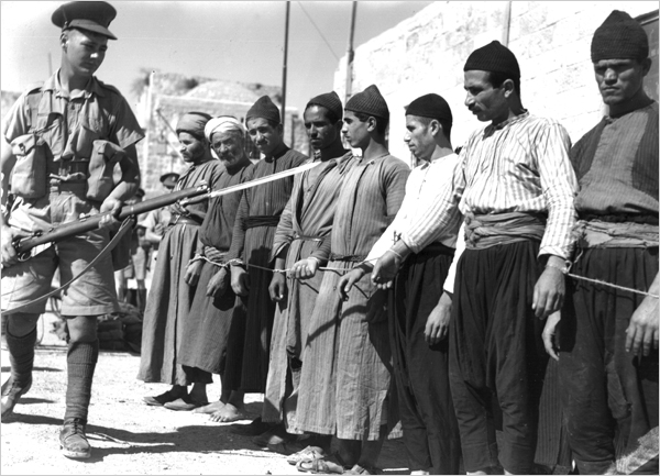 Palestinians against British rule in the 1930s