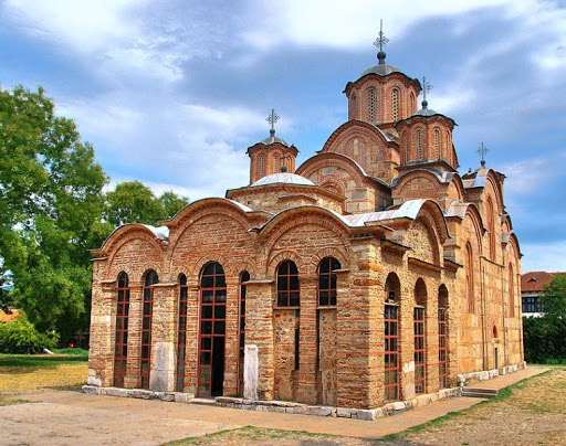 Serbian monastery Gracanica in Kosovo near Pristina (first half of the 14th century)