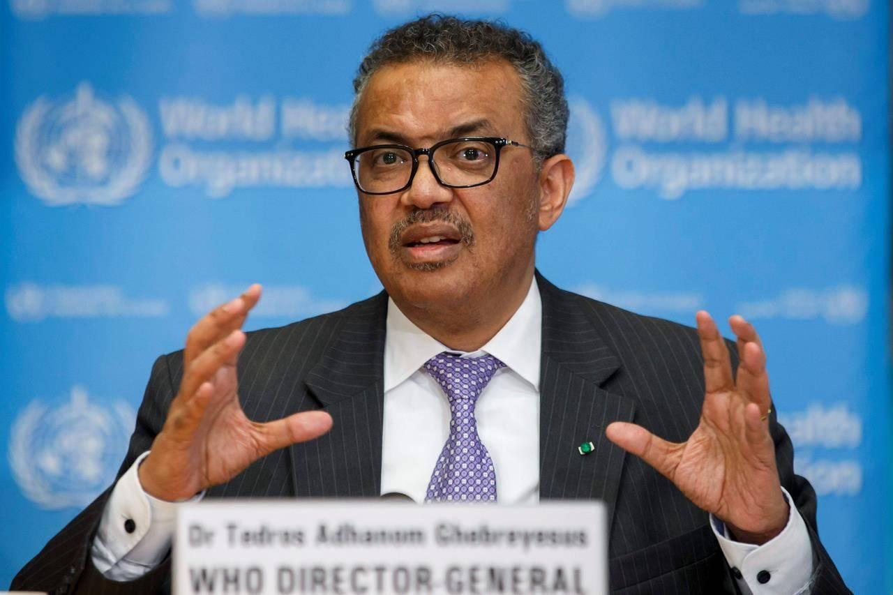 WHO Director Dr Tedros Adhanom Ghebreyesus
