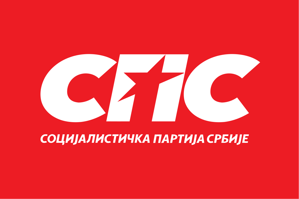 Flag of the Socialist Party of Serbia