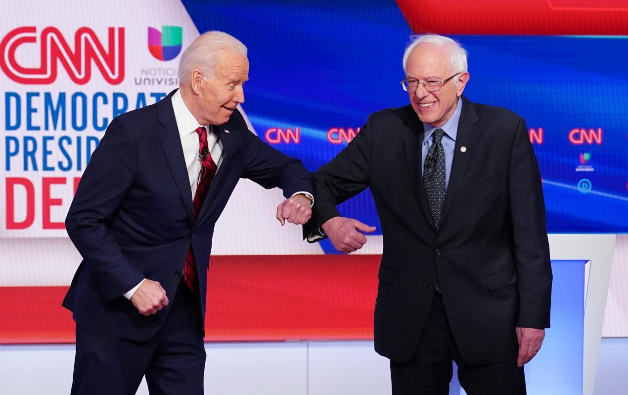 Sanders endorsed the candidacy of Joe Biden