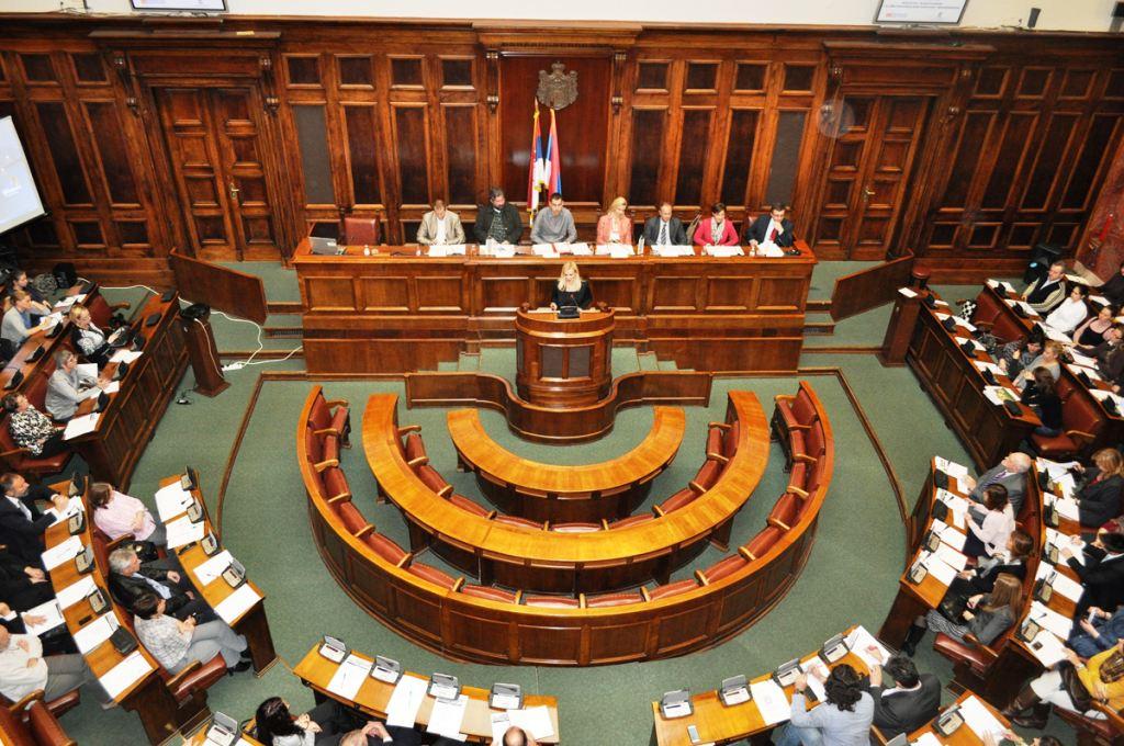 Serbian Parliament inside