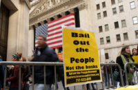 Wall Street Rally Protests Federal Aid To Financial Institutions