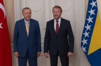 Bosnian leader Bakir Izetbegovic (son of Alija Izetbegovic) with Turkish President T. Erdogan