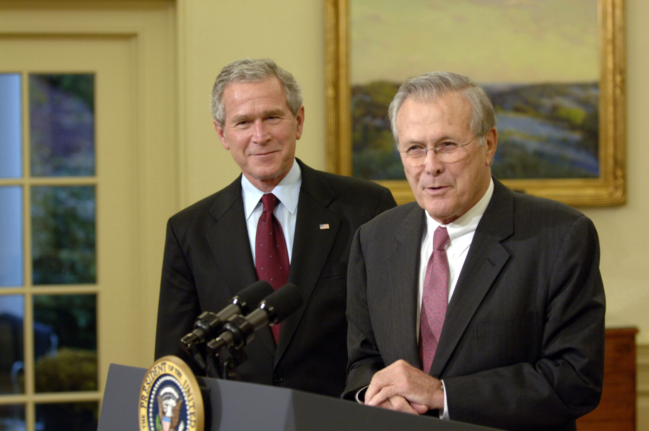 Bush and Rumsfeld
