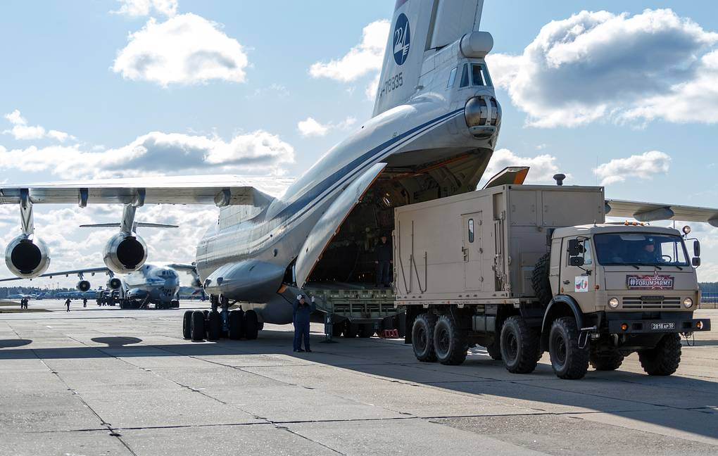 Russian Il-76s with anti-coronavirus assistance arrive in Serbia