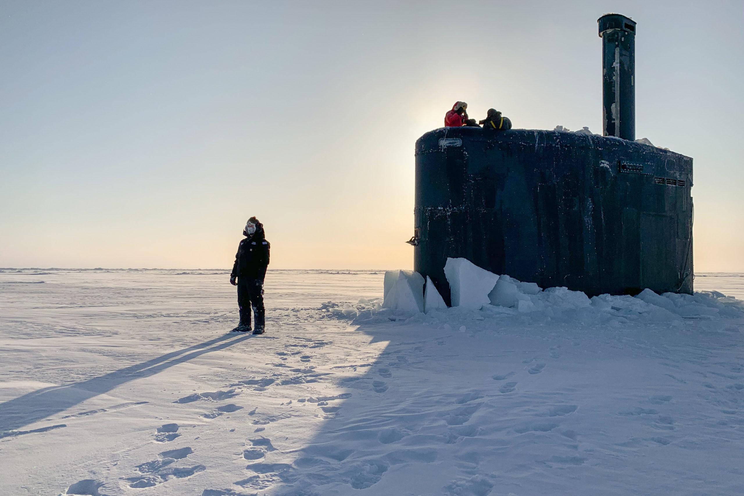 USS Toledo Arrives at Ice Camp Seadragon