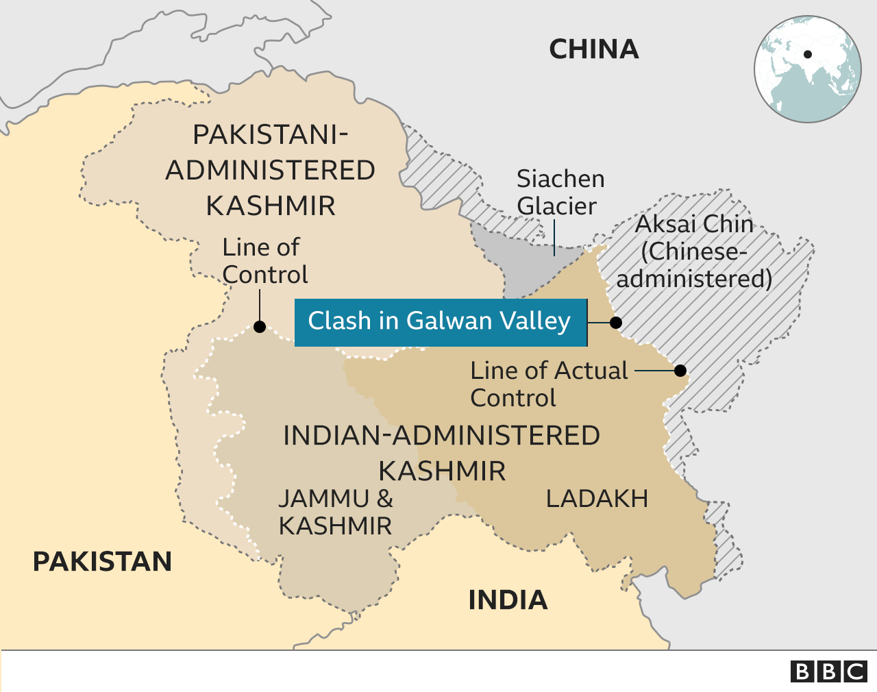 Galwan valley map