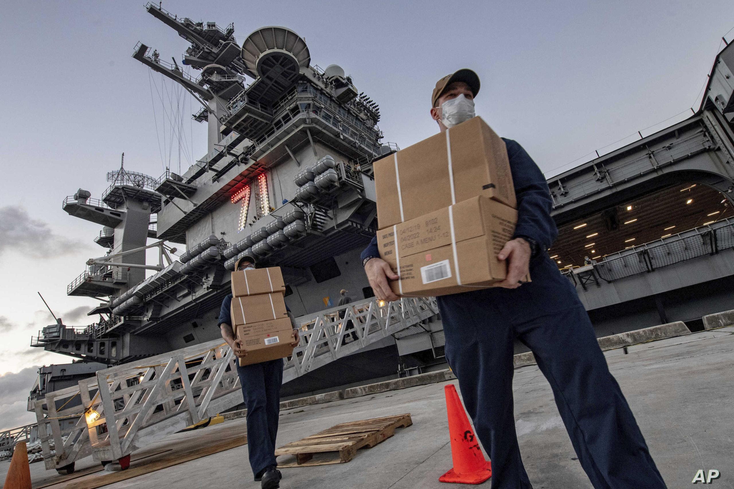 Virus Outbreak Navy Guam