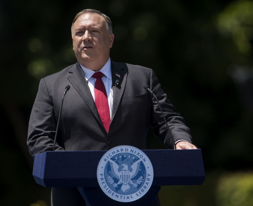 Secretary Of State Michael Pompeo Delivers Speech On China And The Future Of The 'Free World'