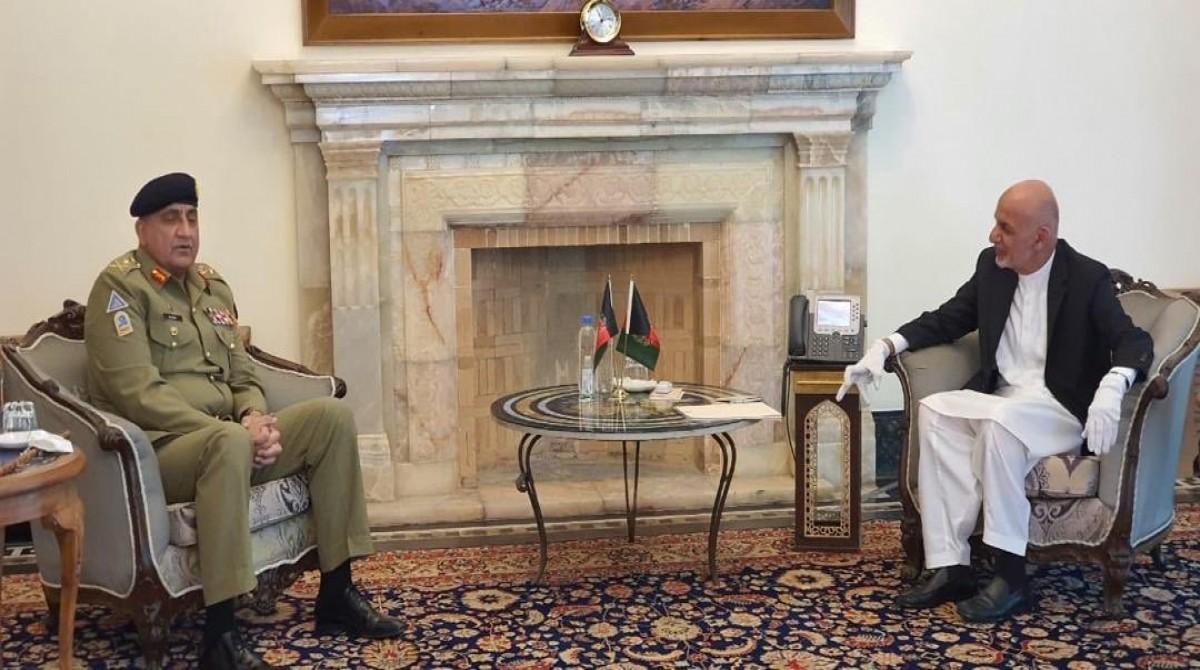 Qamar Bajwa and Ashraf Ghani