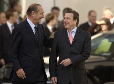 Chirac, Schroeder, Empfang Kanzleramt