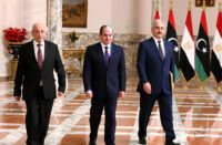 Sisi with Saleh and Haftar