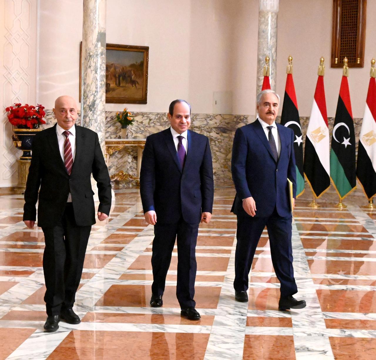 Sisi with Saleh and Haftar