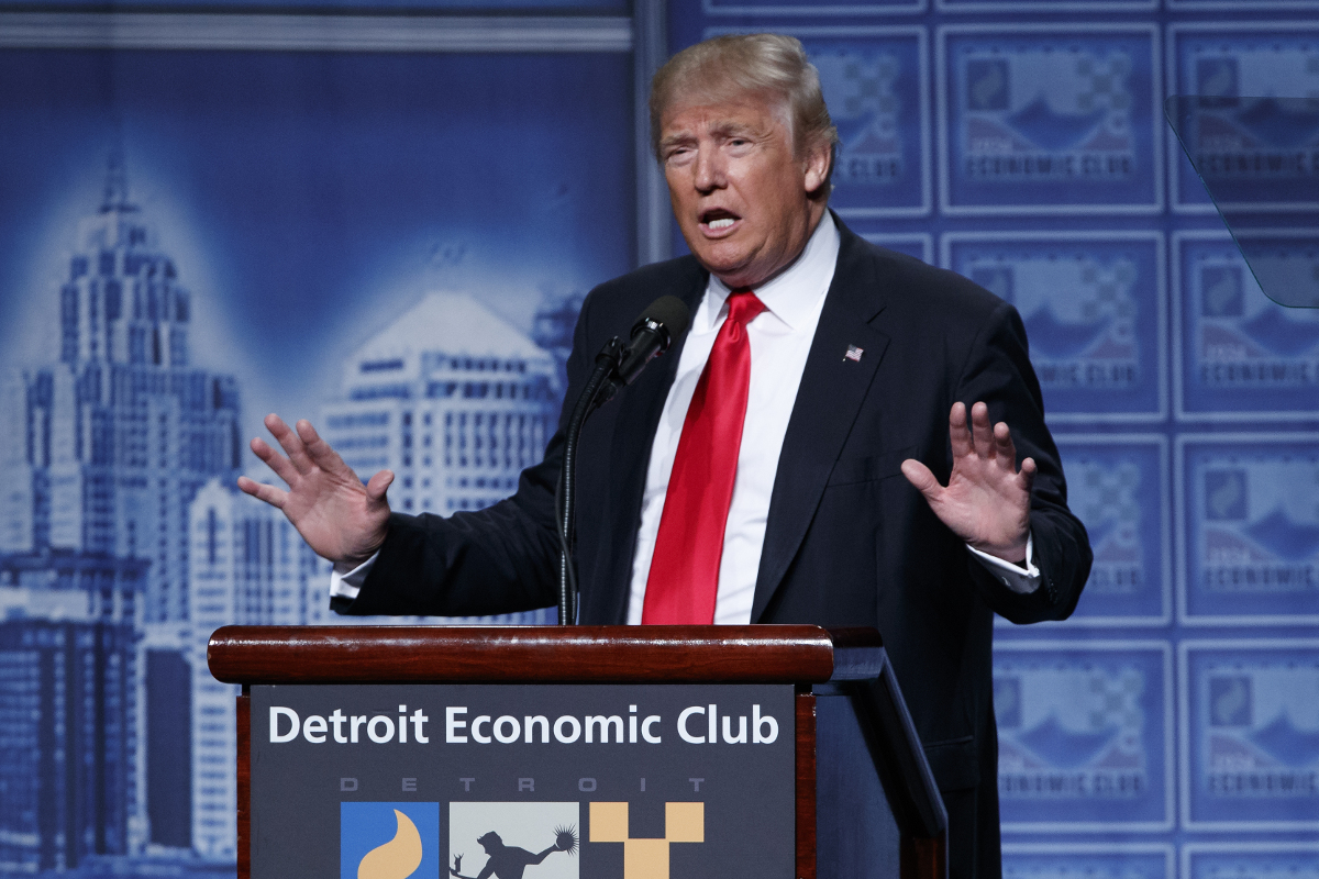 Trump Detroit economic club