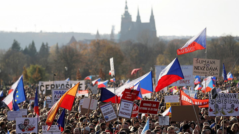 Velvet revolution in Czechoslovakia