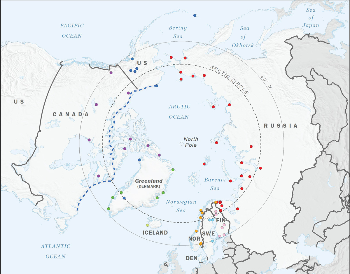 The US Air Force's Arctic Zone area of responsibility