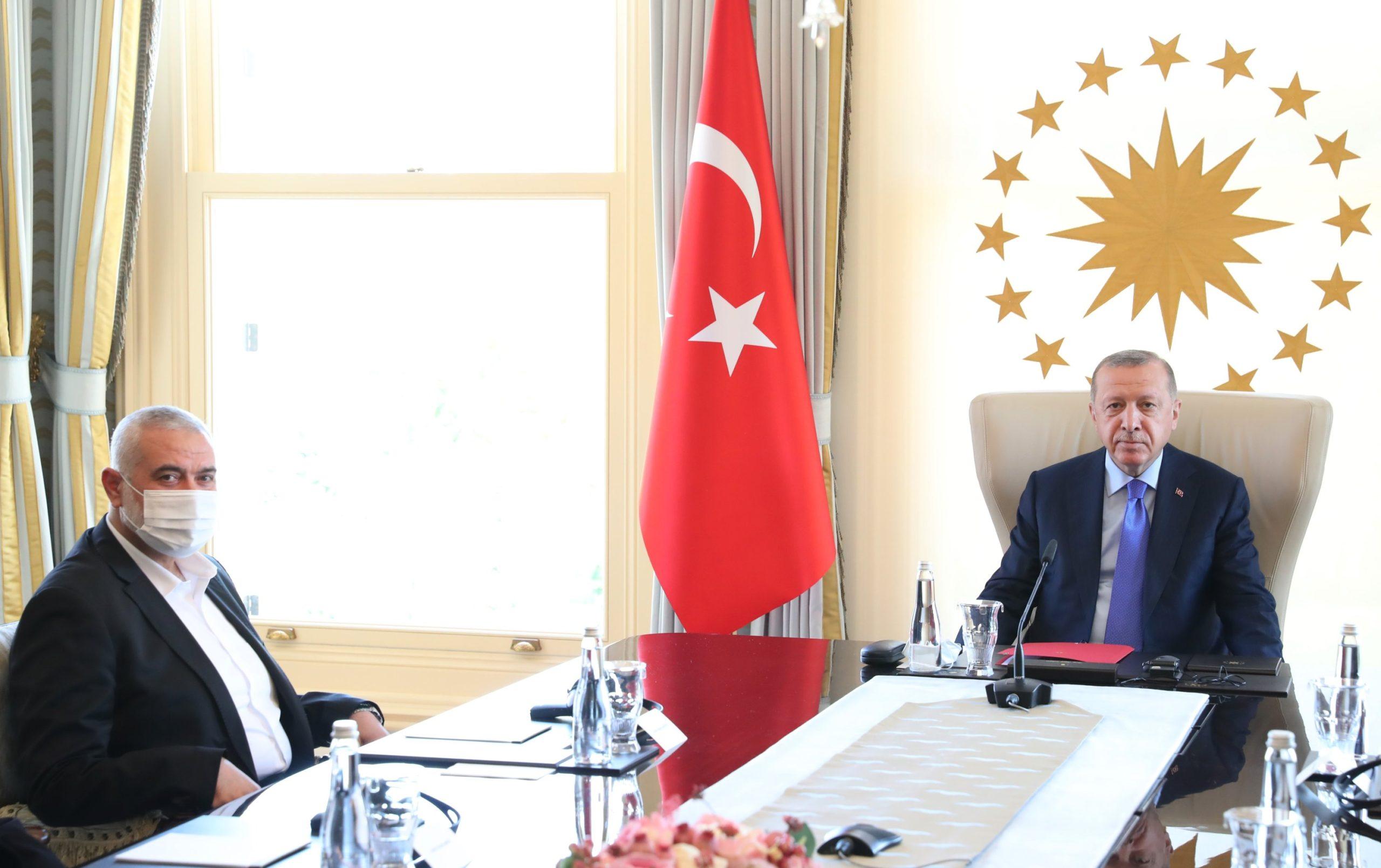 Erdogan met Hamas
