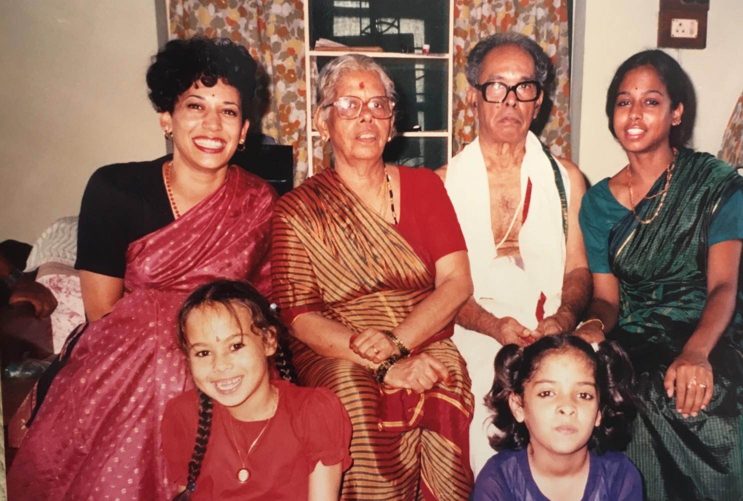 Kamala Harris and he Indian family