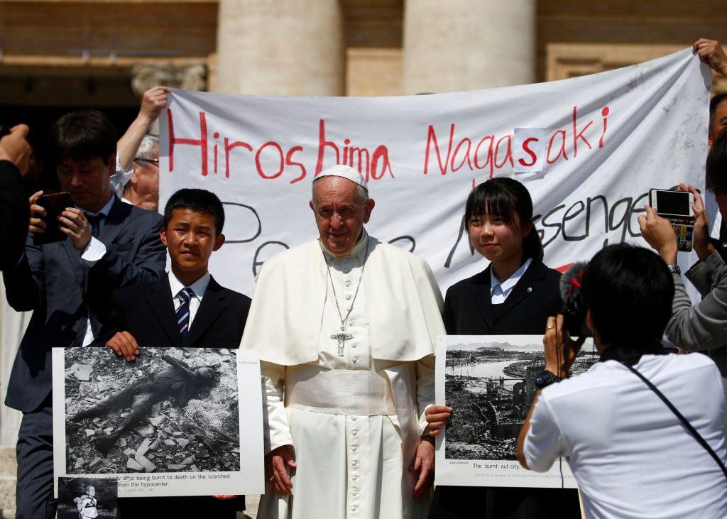 Pope Visits Hiroshima and Hagasaki