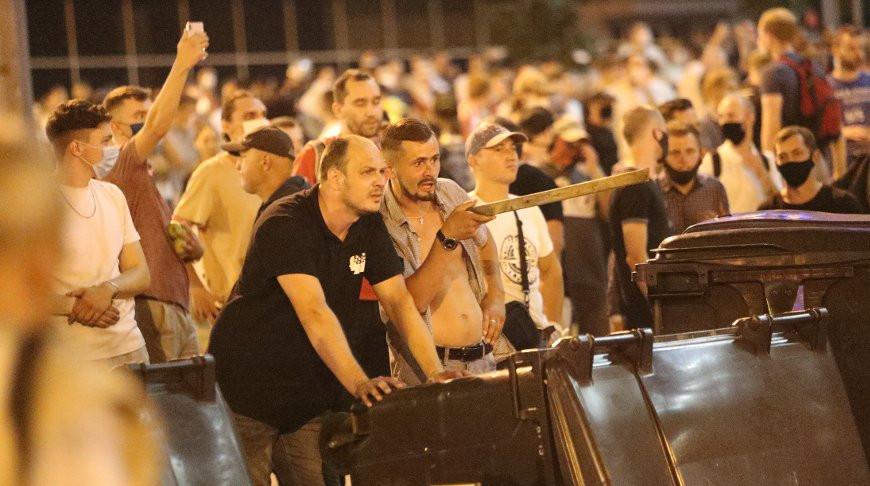 Profi protesters in Belarus