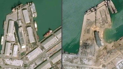 Satellite photos show the destruction