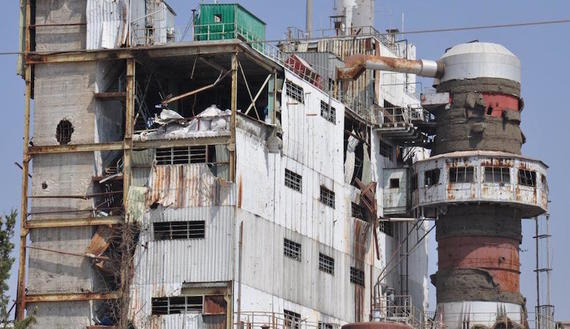 A Sytian factory damaged
