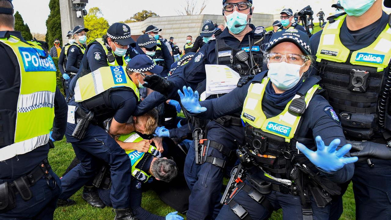 Pandemic arrests in Australia